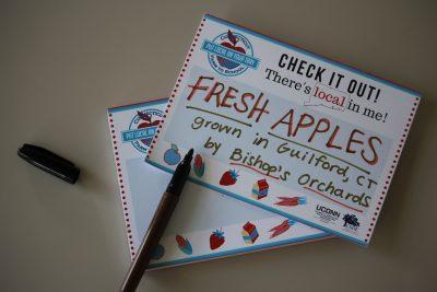 Fresh apples note