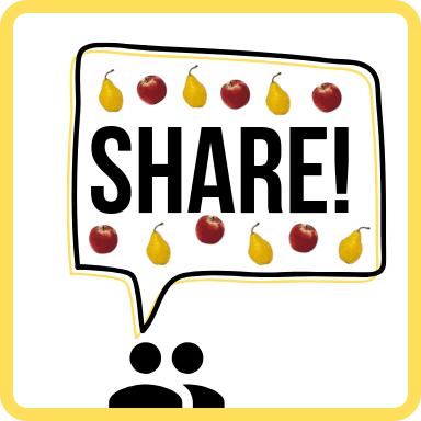 Share speech bubble